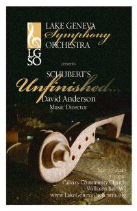 Unfinished program cover